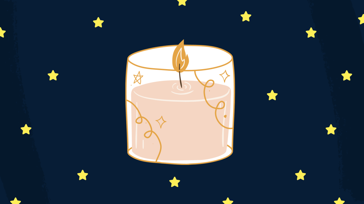 Drawing of a candle