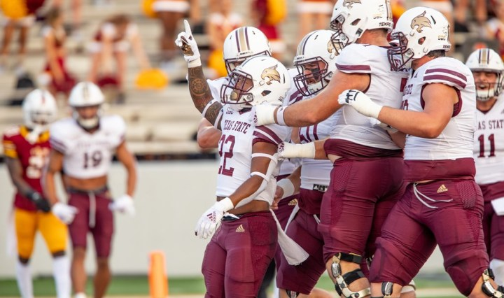 The Texas State Bobcats play their first road game since September 12 against the Louisiana Ragin' Cajuns.