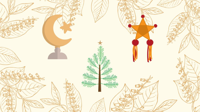 Drawing of holiday symbols