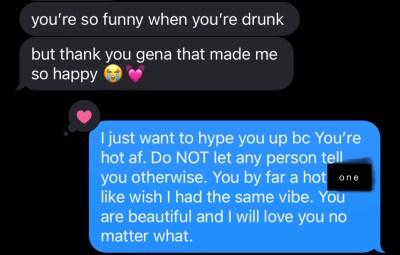 Text screenshot via Iphone