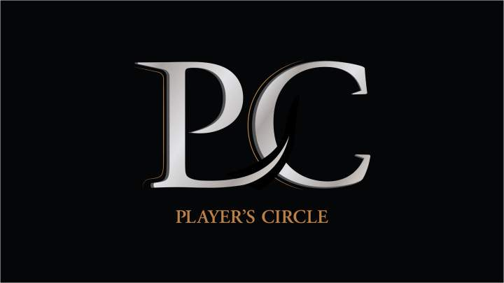A large letter P and a large letter C shown right next to each other on a black background with the title player's circle written below the large letters