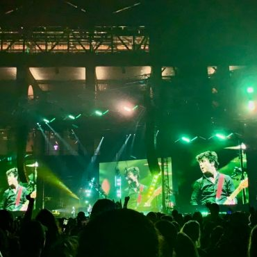 photo of Green Day on stage at the hella mega tour in Dallas, tx.