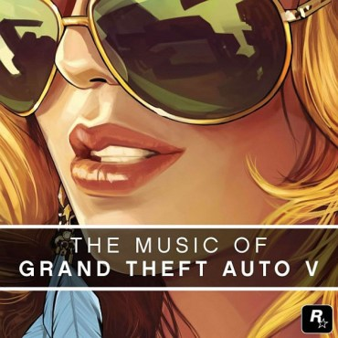 An extreme close-up of a woman wearing sunglasses. The cover is drawn in pastel, pop art style that is signature to the Grand Theft Auto series.