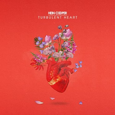 A red album cover that is an illustration of a heart with pink and purple flowers blooming from the top.