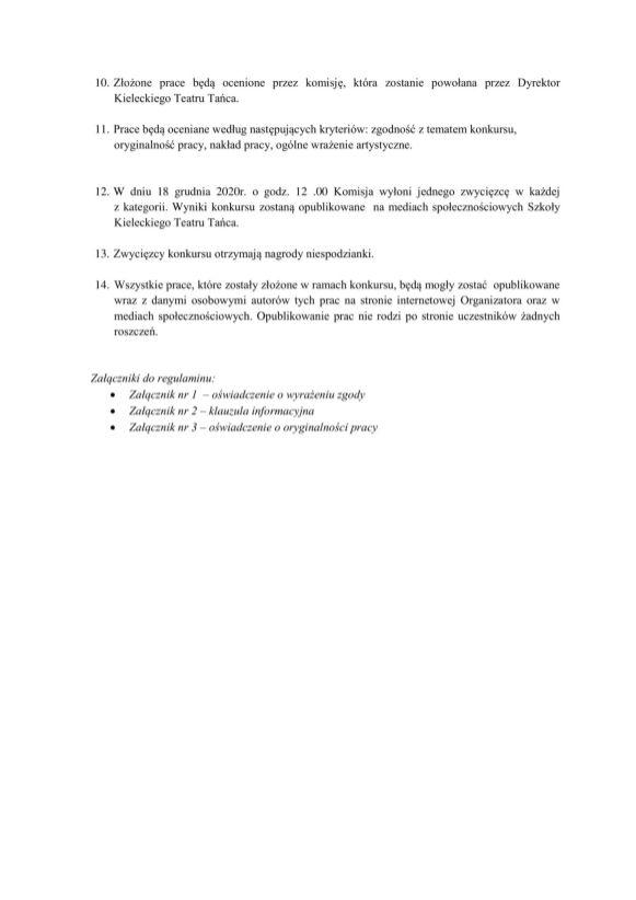 Regulamin Konkursu plastycznego taneczna bombka 2 poprawione-2