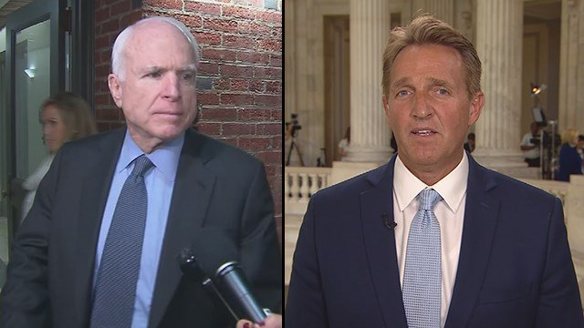 Image result for photos of sen jeff flake and john mccain