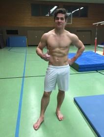 Angelo beim Training