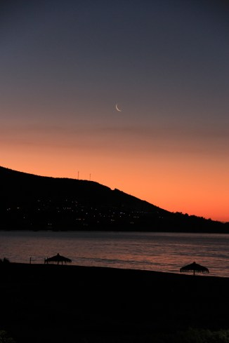 Sunset/Moonset over Papudo