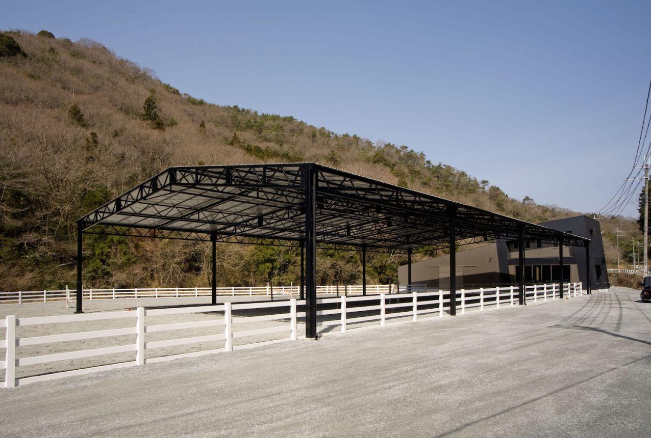 620m×40m馬場内雨天用テント