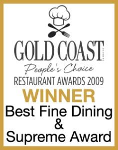 BEST FINE DINING & SUPREME AWARD