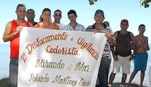 """Eine der 308, an den Küsten verteilten, Abteilungen """"Mirando al Mar"""""""