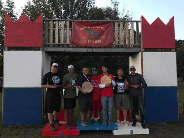 Photo of winners at 2018 Great Lakes Kubb Championship.