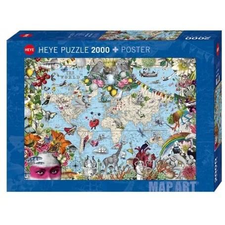 puzzle heye mundo peculiar de 2000 piezas