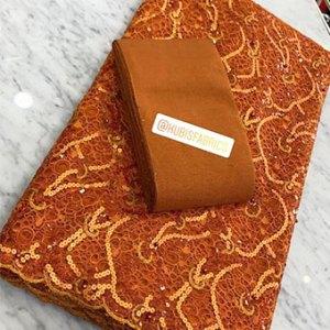 Burnt orange net lace
