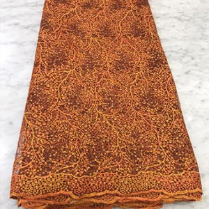 bunrt orange net lace