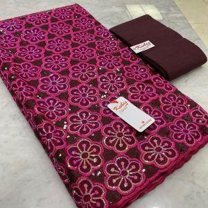 burgundy sequins lace
