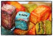 קוביות זן - בונבוניירה. משחק השראה לאמנים Paper Mache Cubes