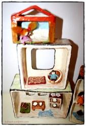 בית בובות משתנה, עיסת נייר. Paper Mashe DollHouse