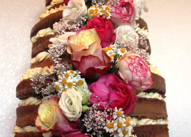 Hochzeitstorte, Torte zur Hochzeit, Naked Cake, Naked Cake Blumen, Cake Topper, Hochzeitstorte naked Cake, Hochzeitstorte selber machen, Hochzeitstorte selbst backen