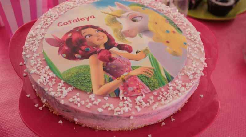 Mia and Me Torte, Mia and Me Kuchen, Mia and Me Himbeer-Kokos Torte, Kühlschrankkuchen, Kuchen ohne Backen