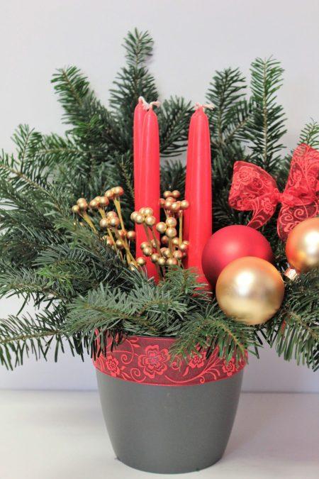 Diy Basteln Mit Kindern Adventsgesteck Zu Weihnachten Kuchen