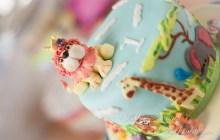 Kinder Torte Kuchen Geburtstag 1 Löwe Safari Zoo Elefant Giraffe Affe Tiger Tiere Baby Kind