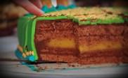 Jugendweihe Torte mit Rosen und Icing Gedicht - angeschnitten