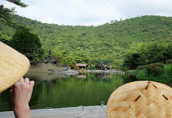 栗林公園の南湖周遊和船 船からの景色