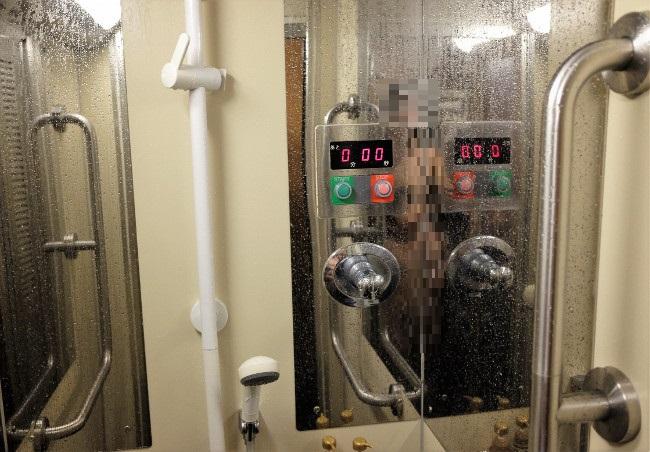 サンライズエクスプレスのシャワー室