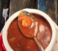 zupa rybna z krewetkami