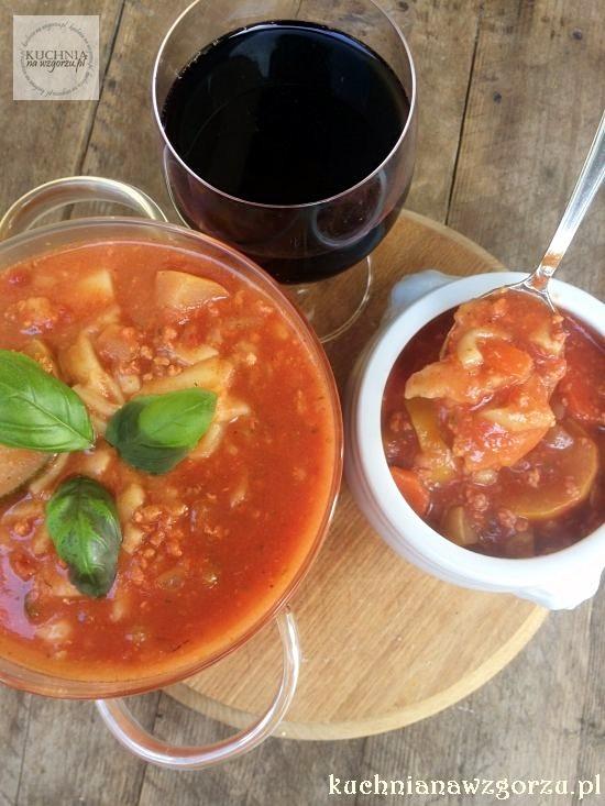 przepis na zupę lasagne