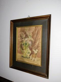 Kwiaty lata międzywojenne,akwarela,papier,46x57