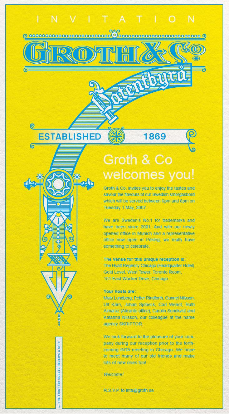 Inbjudan Groth & Co
