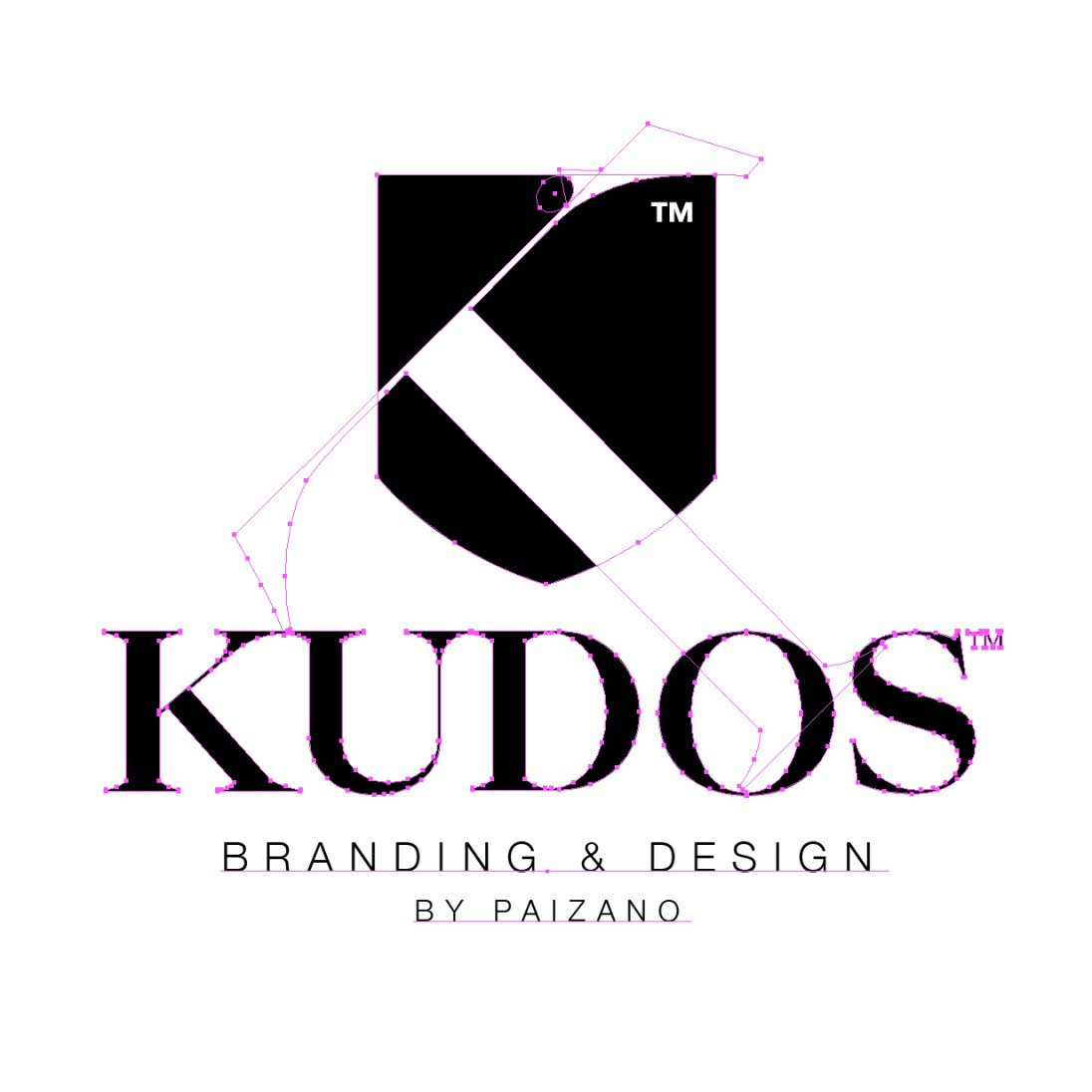 Kudos logotyp dissekerad