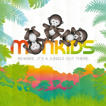MONKIDS™ logotyp med payoff