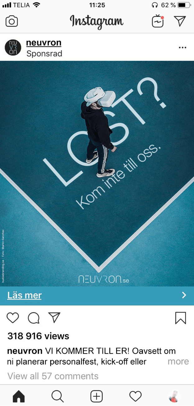 Neuvron instagramkampanj