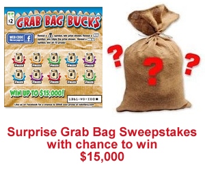 surprise grab bag sweepstakes