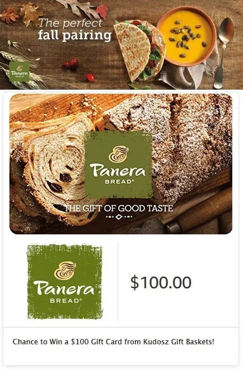 Panera Bread Autumn Gourmet Sweepstakes