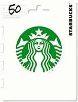 starbucks $50 gift card