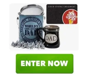 Hershey's Kisses and Cold Stone Creamery for Father's Day Gift Bucket Sweepstakes