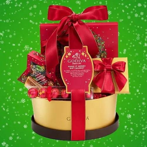Godiva Chocolatier Make It Merry Christmas Gift Basket Sweepstakes