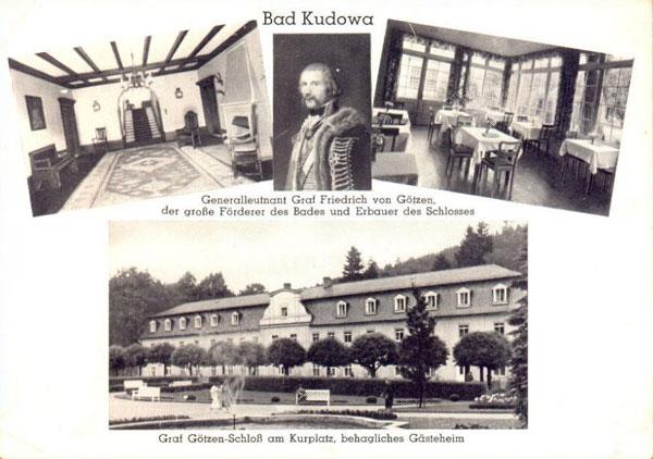 Właściciel Kudowy hr. F. W. Von Gotzen