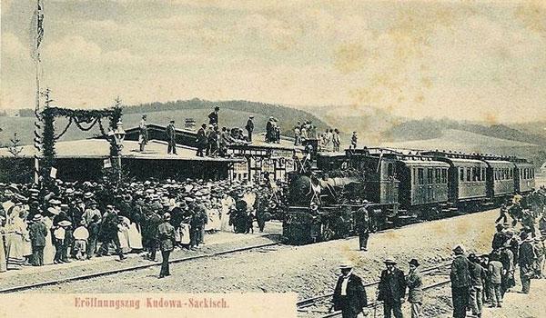 Pierwszy pociąg w Kudowie w 1905 roku