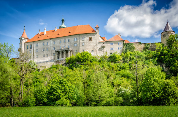 Zamek w Nowym Mieście nad Metują w Czechach