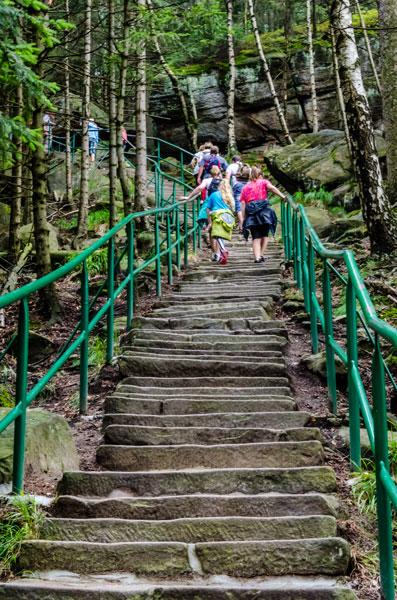 655 schodów na Szczeliniec Wielki