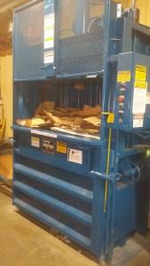 Kudrinko's cardboard baler Westport green grocery store
