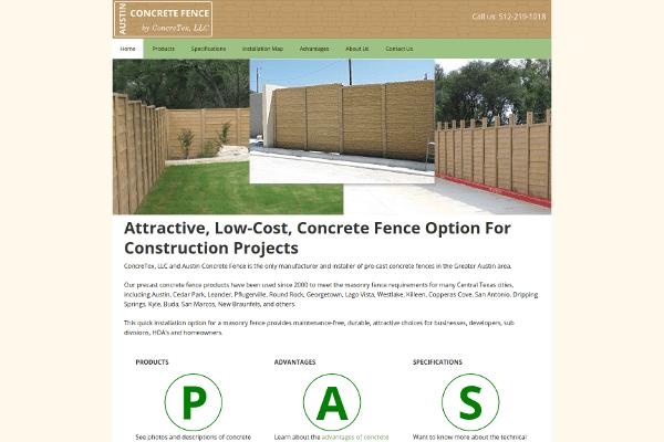 portfolio - austin concrete fence