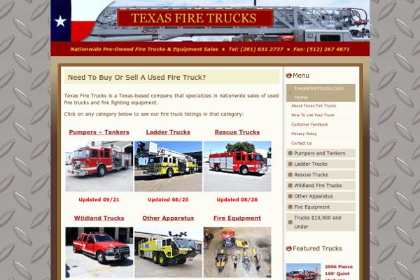 portfolio - texas fire trucks