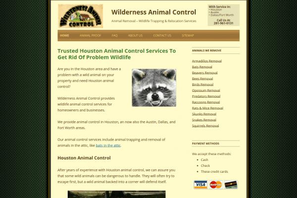 portfolio - wilderness animal control