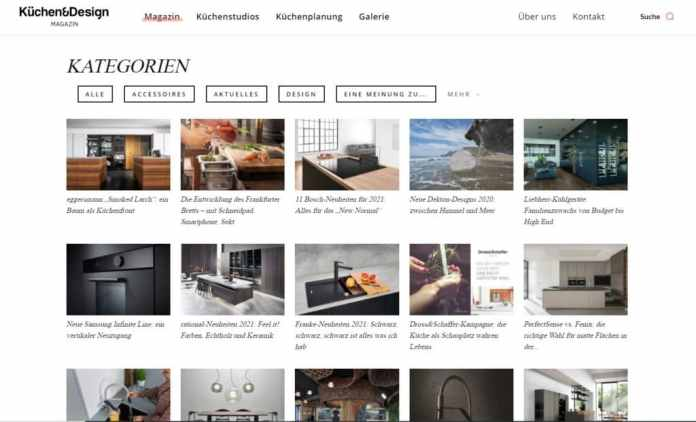 Most important point: our large number of articles.  We have now categorized these - and you can browse much better.  (Photo: Küchen & Design Magazin)